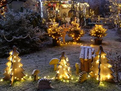 Weihnacht im Garten mit Krippenausstellung
