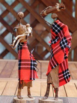 Massai-Krippenfiguren